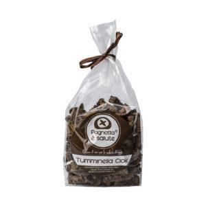 Crostini Tostati Tumminella di Pane Biologico integrale di Grani Antichi Siciliani biologici e Cioccolato fondente biologico