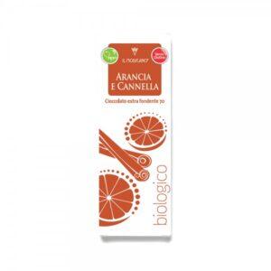 Cioccolato Extra Fondente Arancia e Cannella BIO