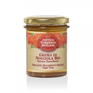 Crema di Nocciole Siciliane Senza Zucchero BIO