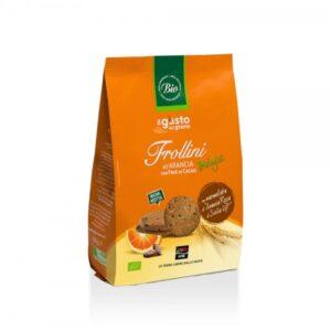 Frollini all'Arancia con Fave di Cacao Libera Terra BIO