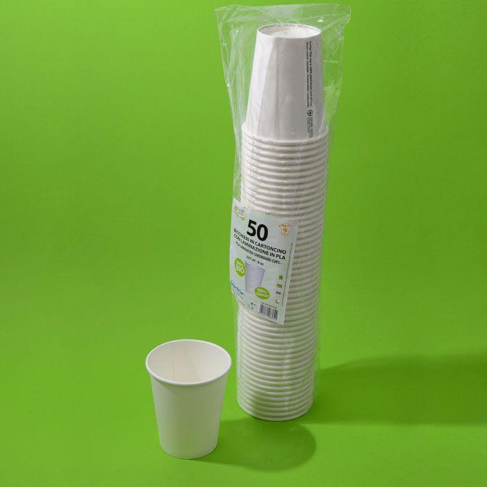 Bicchiere Compostabile 240 ml Cartoncino+ PLA 50 pz